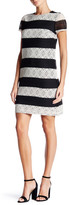 Maggy London Lace Stripe Dress