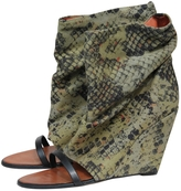 Isabel Marant Green Cloth Ankle boots