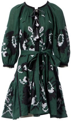 N. Vita Kin \N Green Linen Dresses