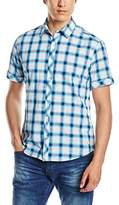 Esprit Men's Yd Slb Ch Regular Fit Short Sleeve Casual Shirt