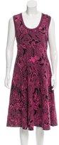 M Missoni Knit Abstract Print Dress