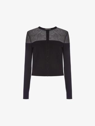 Alexander McQueen Engineered Sheer Knit Cardigan