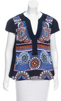 Peter Pilotto Printed Short Sleeve Top w/ Tags