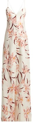 Zimmermann Corsage Floral-print Linen Dress - Cream Print