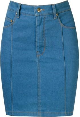 Amapô High Waist Denim Skirt