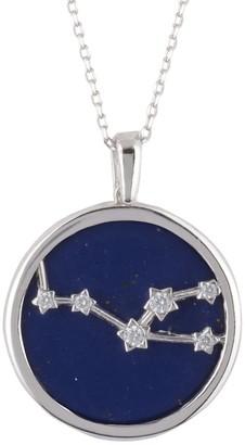 Latelita Zodiac Lapis Lazuli Gemstone Star Constellation Pendant Necklace Silver Taurus