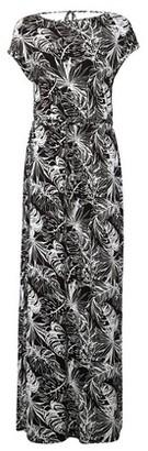 Dorothy Perkins Womens Dp Tall Black Tropical Print Tie Maxi Dress