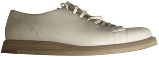 Christian Dior White Leather Lace ups