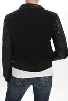 Current/Elliott The Varsity Jacket Black