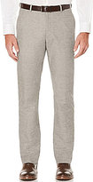 Perry Ellis Slim-Fit End-On-End Flat-Front Pants