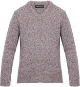 Pringle Grey Flecked Lambswool and Cashmere-Blend Sweater