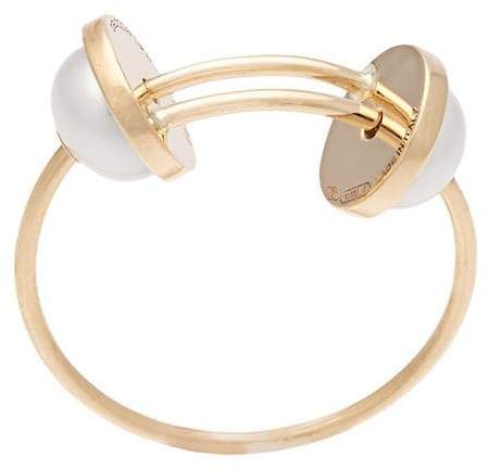 Delfina Delettrez 18kt gold double pearl ring