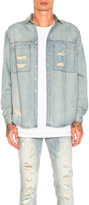 Stampd Distressed Against Denim Shirt