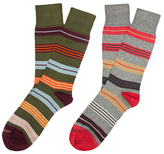 Etiquette Clothiers Amsterdam Stripes Mercerized Socks (2 PK)
