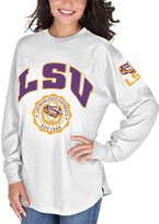 Unbranded Women's White LSU Tigers Edith Long Sleeve T-Shirt