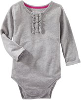 Osh Kosh Sparkle Knit Bodysuit (Baby) - Heather-18 Months