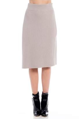 Charlie May Ribbed Wrap Skirt