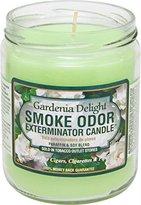 Gardenia Smoke Odor Exterminator 13oz Jar Candle, Delight