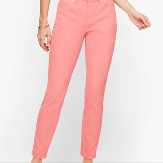 Talbots Slim Ankle Jeans - Curvy Fit - Garment Dyed Dusty Peach