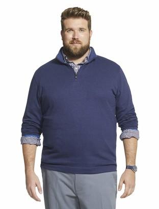 Geoffrey Beene Men's Big & Tall Tall Long Sleeve Stretch Twill 1/4 Zip Pullover