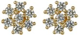 Candela 14K Gold Flower Stud Earrings Accented with Swarovski CZ Elements