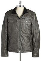 William Rast Faux Leather Moto Jacket