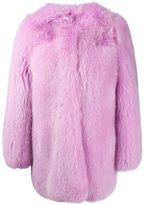 Gucci snake embroidery coat - women - Silk/Fox Fur/Polyester - 40