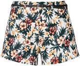 Loveless - floral belted shorts - women - Linen/Flax/Polyester - 34