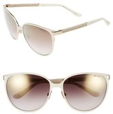 Jimmy Choo Women's 'Posies' 60Mm Cat Eye Sunglasses - Ivory