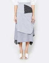 J.W.Anderson Stripe Asymmetric Skirt