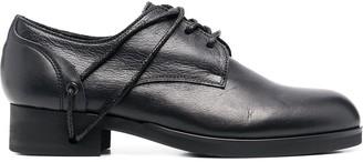 Yohji Yamamoto Lace-Threading Detail Shoes