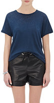 "Current/Elliott Women's ""The Rolled Sleeve Crew"" T-Shirt-NAVY"