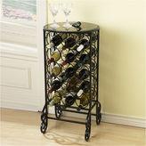Asstd National Brand Glass-Top Wine Rack Table