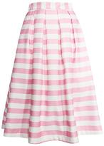 Pink Stripe Jacquard Skirt