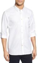 Ted Baker Men's Laavato Extra Trim Fit Linen & Cotton Roll Sleeve Sport Shirt