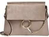 Chloé 'Medium Faye' Leather & Suede Shoulder Bag