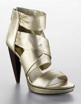 MICHAEL MICHAEL KORS Jennings Zipper Leather Platform Sandals