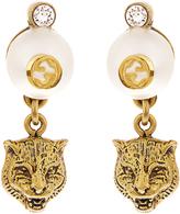 Gucci Feline pearl-effect drop earrings