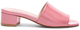 Maryam Nassir Zadeh Patent Leather Sophie Slides in Pink,Metallics.