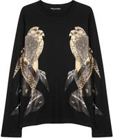 Neil Barrett Black Falcon-print Cotton Top
