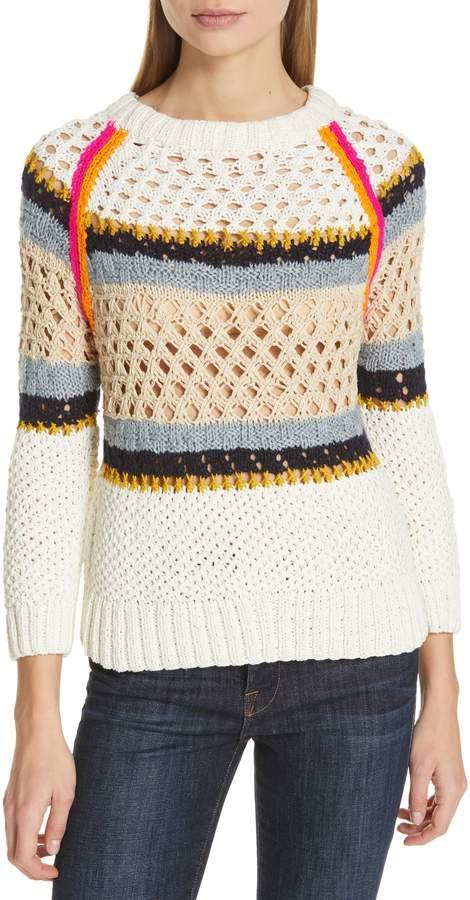 Smythe Crochet Stripe Sweater