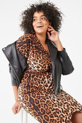 Forever 21 Plus Size Leopard High-Low Dress