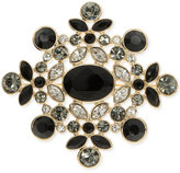 Givenchy Large Crystal Cluster Pin