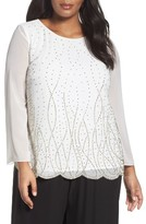 Alex Evenings Plus Size Women's Embellished Top