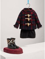Burberry Exploded Tartan Double-faced Wool Duffle Coat