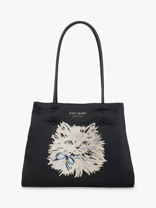 Kate Spade Puffy Cat Tote Bag, Black
