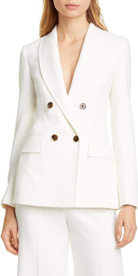 0cf2ce9364 Ivory Double Breasted Jacket - ShopStyle