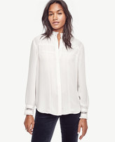 Ann Taylor Lace Tipped Blouse