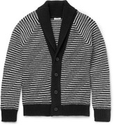 Tomas Maier - Slim-fit Shawl-collar Striped Merino Wool Cardigan
