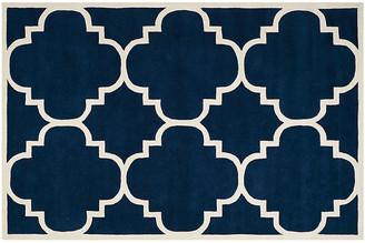 One Kings Lane Mia Rug - Dark Blue/Ivory - 2'x3'